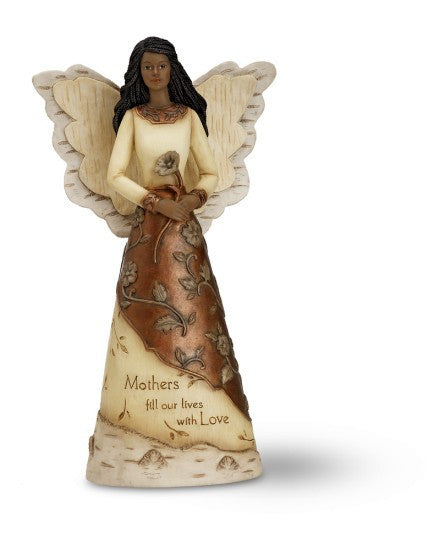 African American Mother Angel Figurine: Elements Collection by Pavilion Gifts