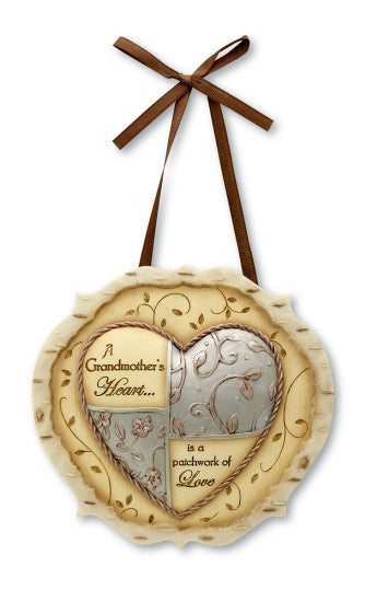 Grandmother Heart Plaque