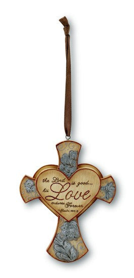 Love Cross Ornament