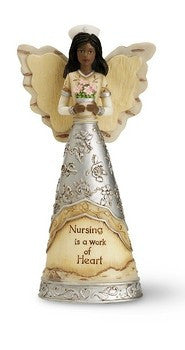 Nurse Angel Holding Flowers
