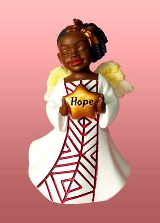 Hope (White): African American Christmas Ornament