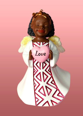Love (White): African American Christmas Ornament