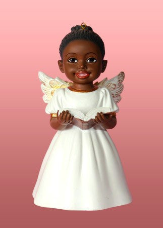 Singing Praises (White): African American Christmas Ornament