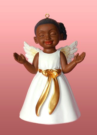 Worship (White): African American Christmas Ornament