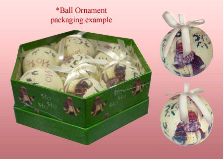 African American Santa Claus Ball Christmas Ornament Set (Frosted Finish)