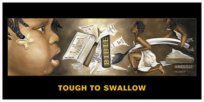 Tough To Swallow (Female) Magnet by Edwin Lester