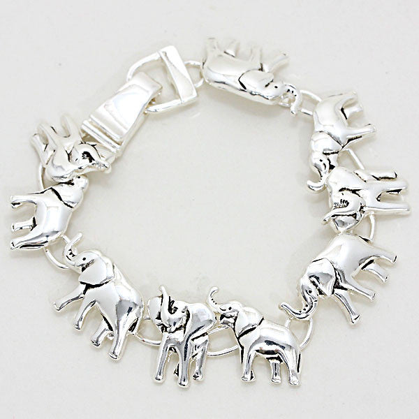 Delta Sigma Theta Inspired Elephant Train Bracelet