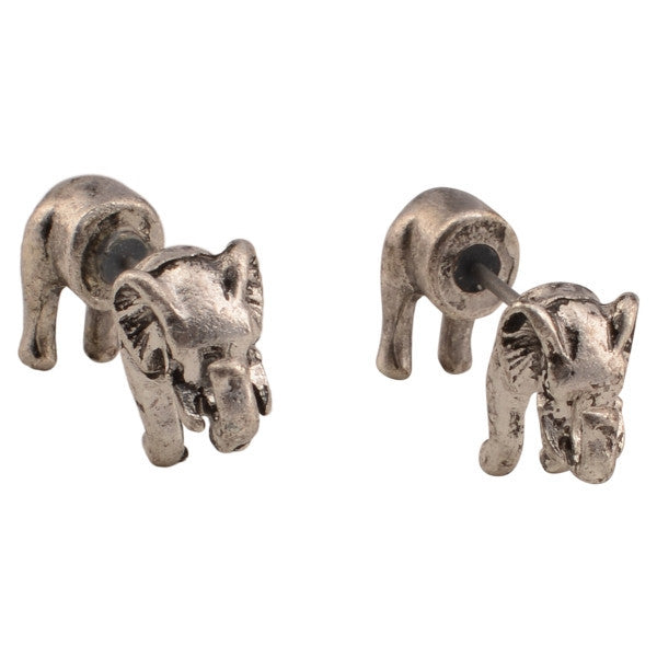 Elephant Post Earrings by Judson and Company