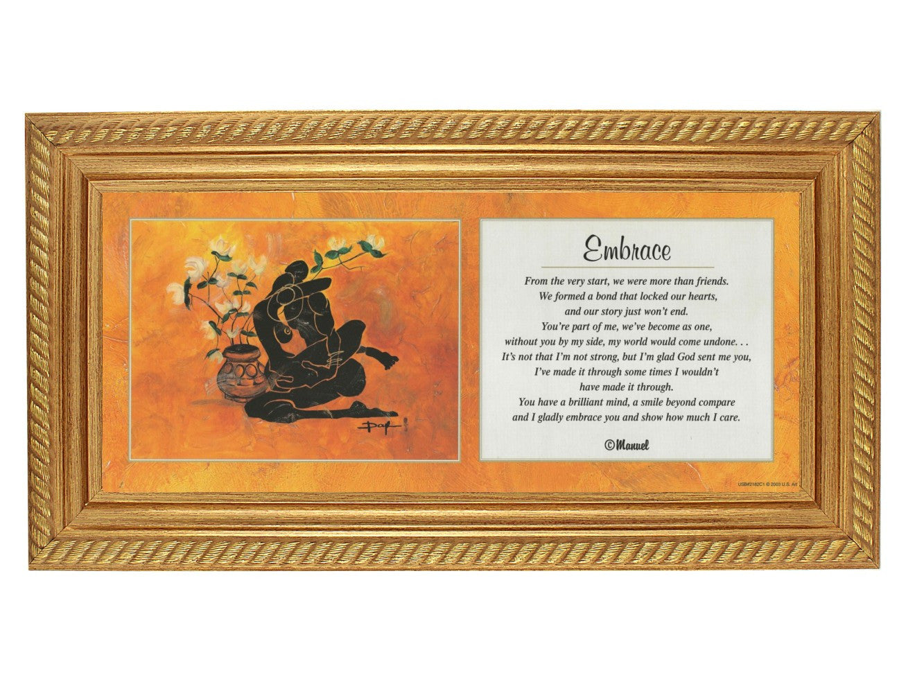 Embrace by Doyle and Shahidah (Gold Rope Frame)