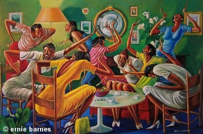 Room Full A'Sistahs by Ernie Barnes
