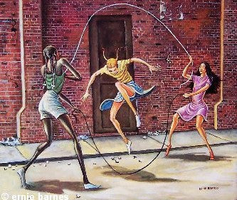 Double Dutch by Ernie Barnes