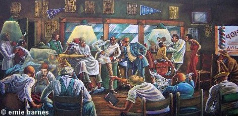 Palace Barber Shop by Ernie Barnes