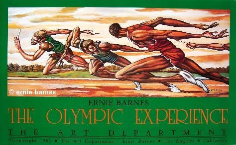 The Olympic Experience By Ernie Barnes The Black Art Depot