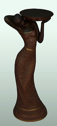 Woman Votive Candleholder (Brown) III