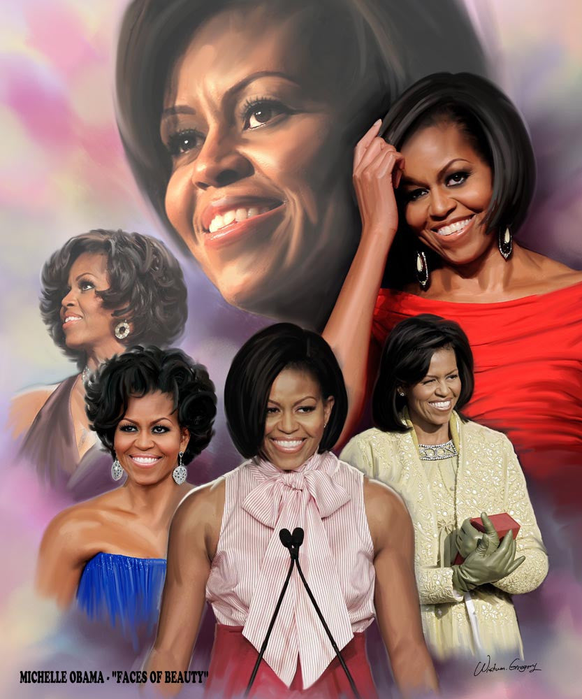 Faces of Beauty: Michelle Obama by Wishum Gregory