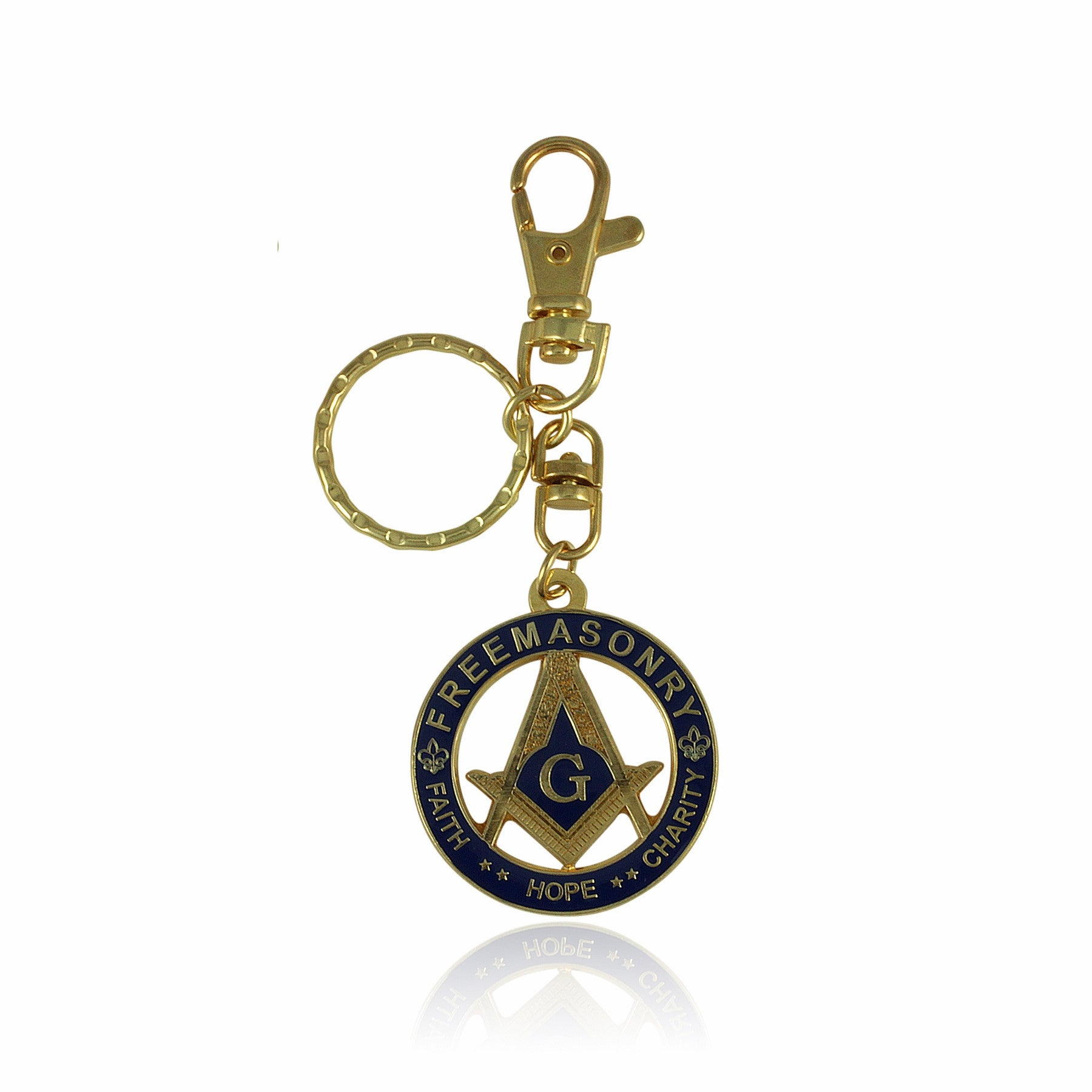 Faith, Hope and Charity: Freemasonry Masonic Key Chain by UniverSoul Gifts