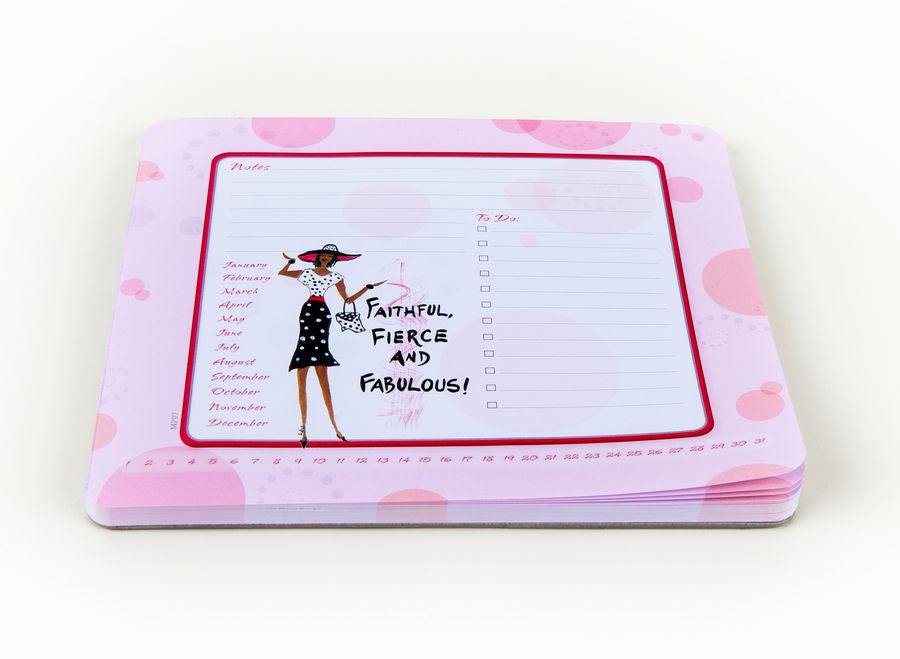 Faithful, Fierce and Fabulous Memo Mouse Pad