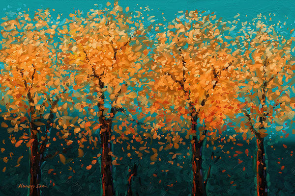 Fall Approach by Kanayo Ede (Landscape Art)