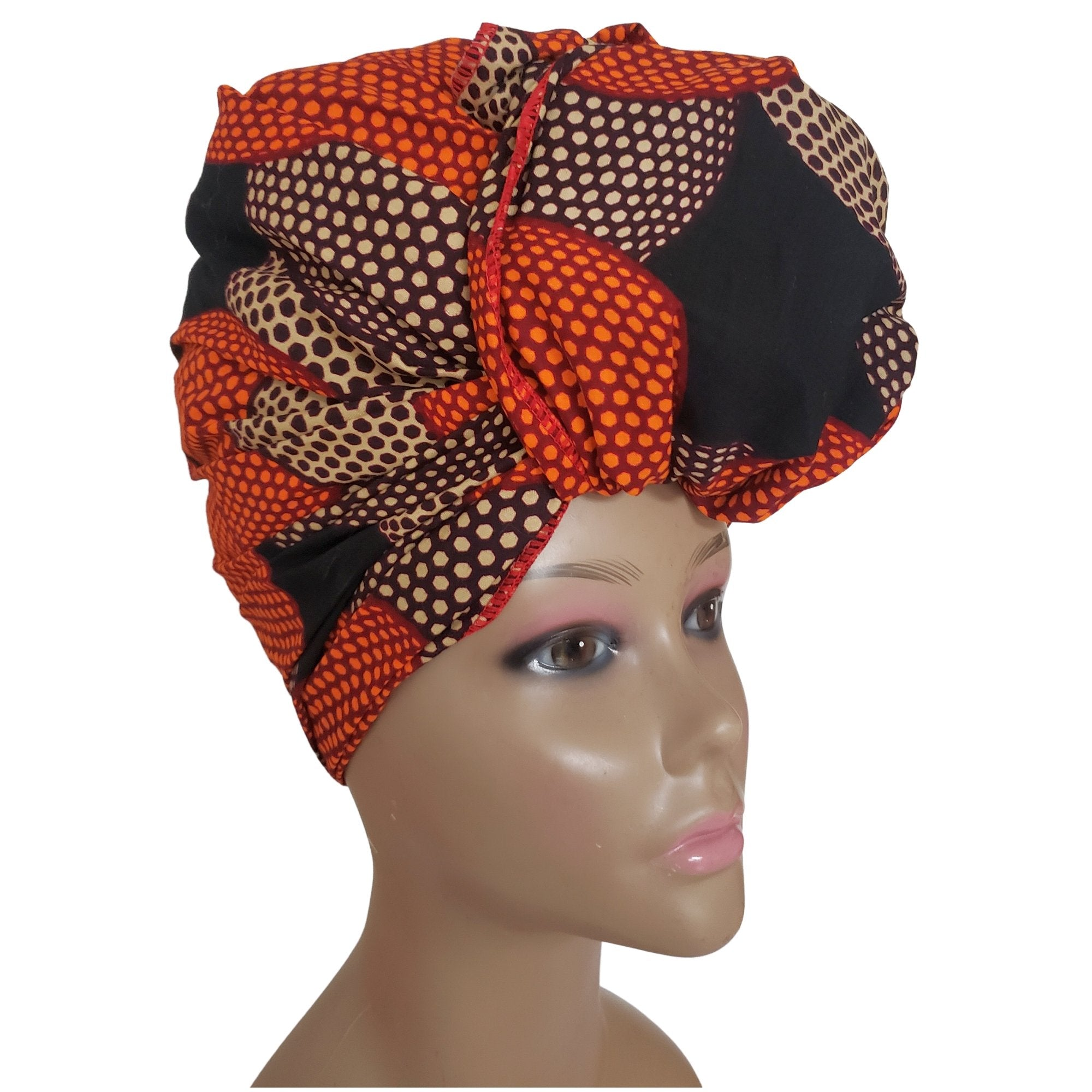 Fatima: Authentic African Fabric Headwrap by Boutique Africa (Kenya)