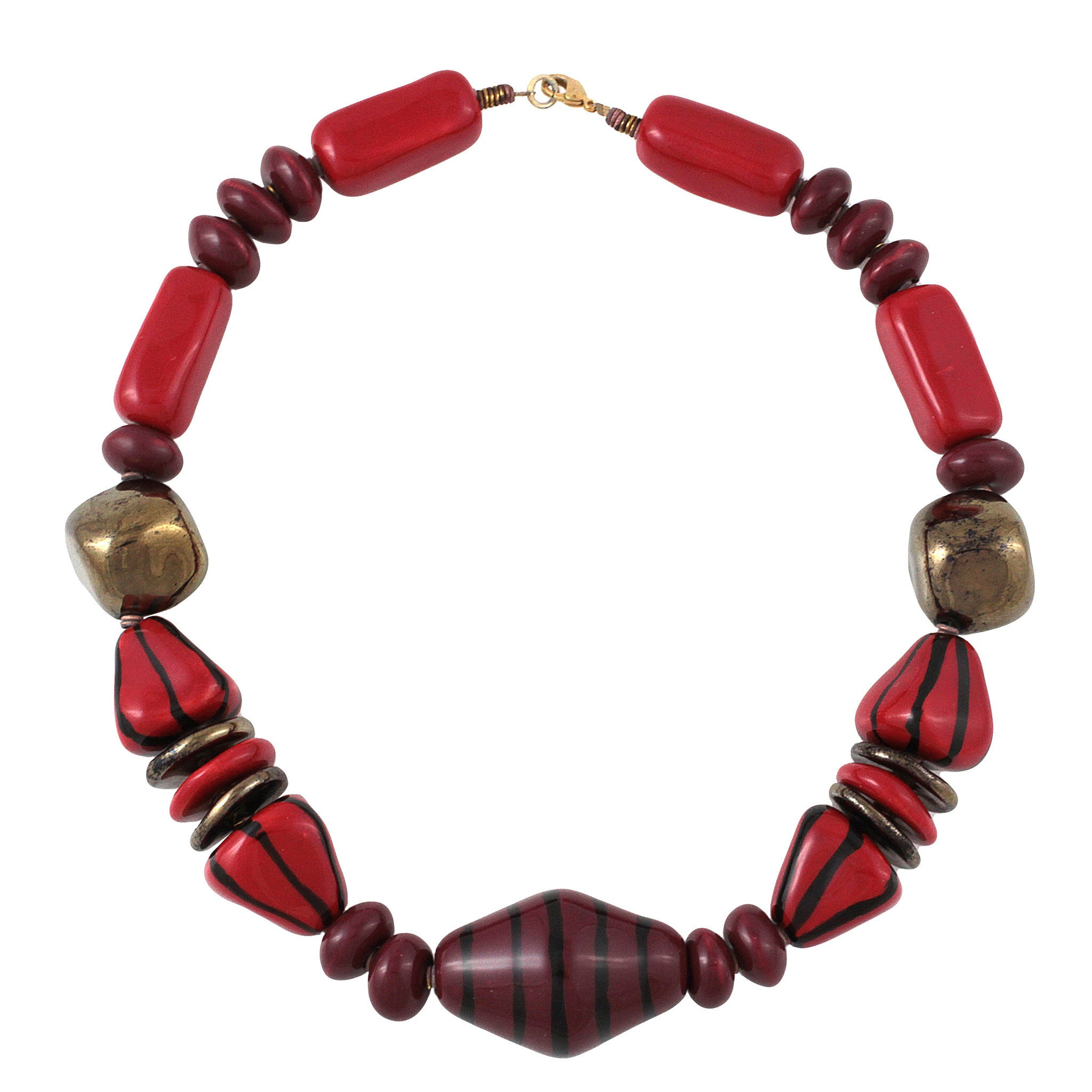 Firefly: Kenyan Hand Made Ceramic Bead Necklace