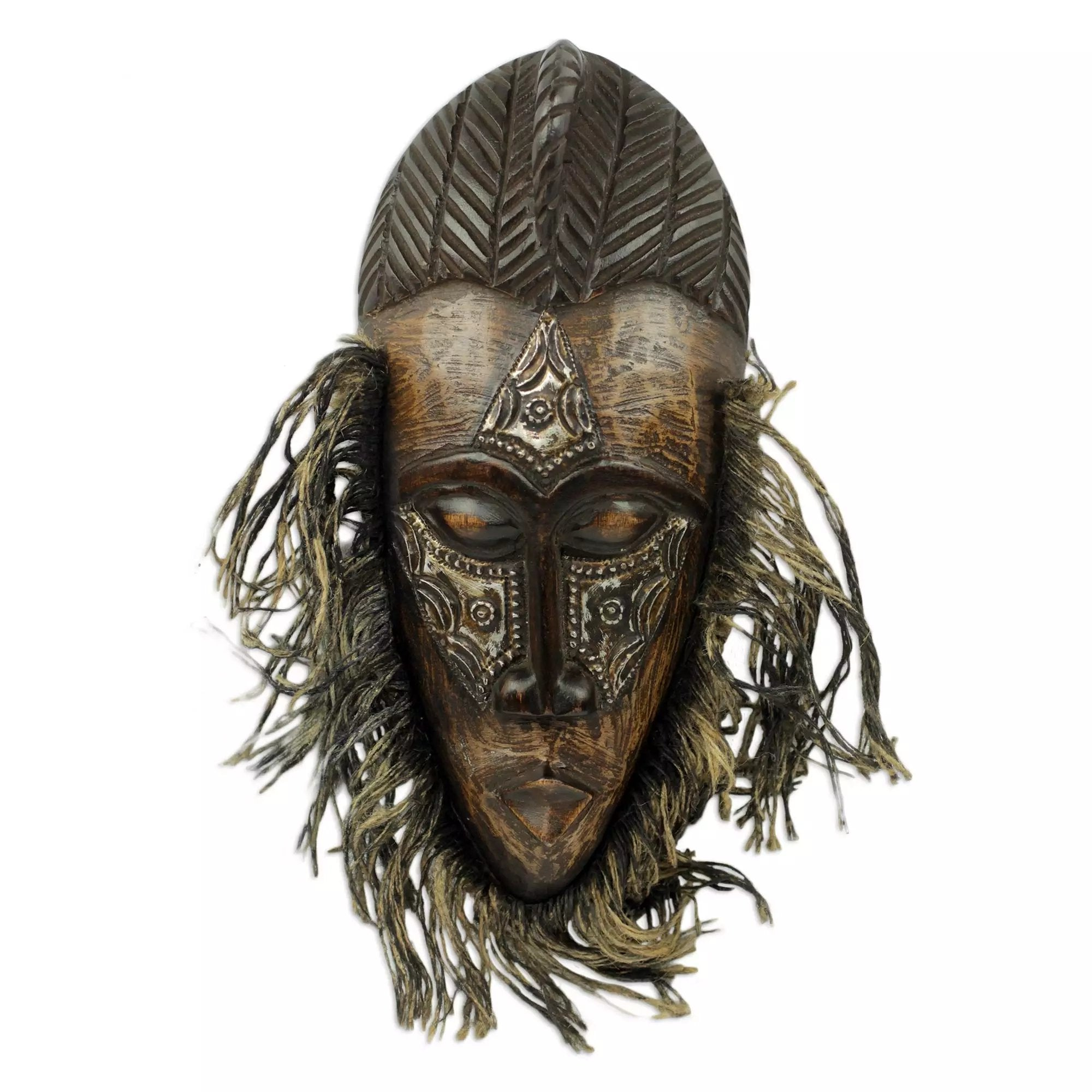 Authentic African Hand Made Fra-Fra Dancer Mask by Awudu Saaed