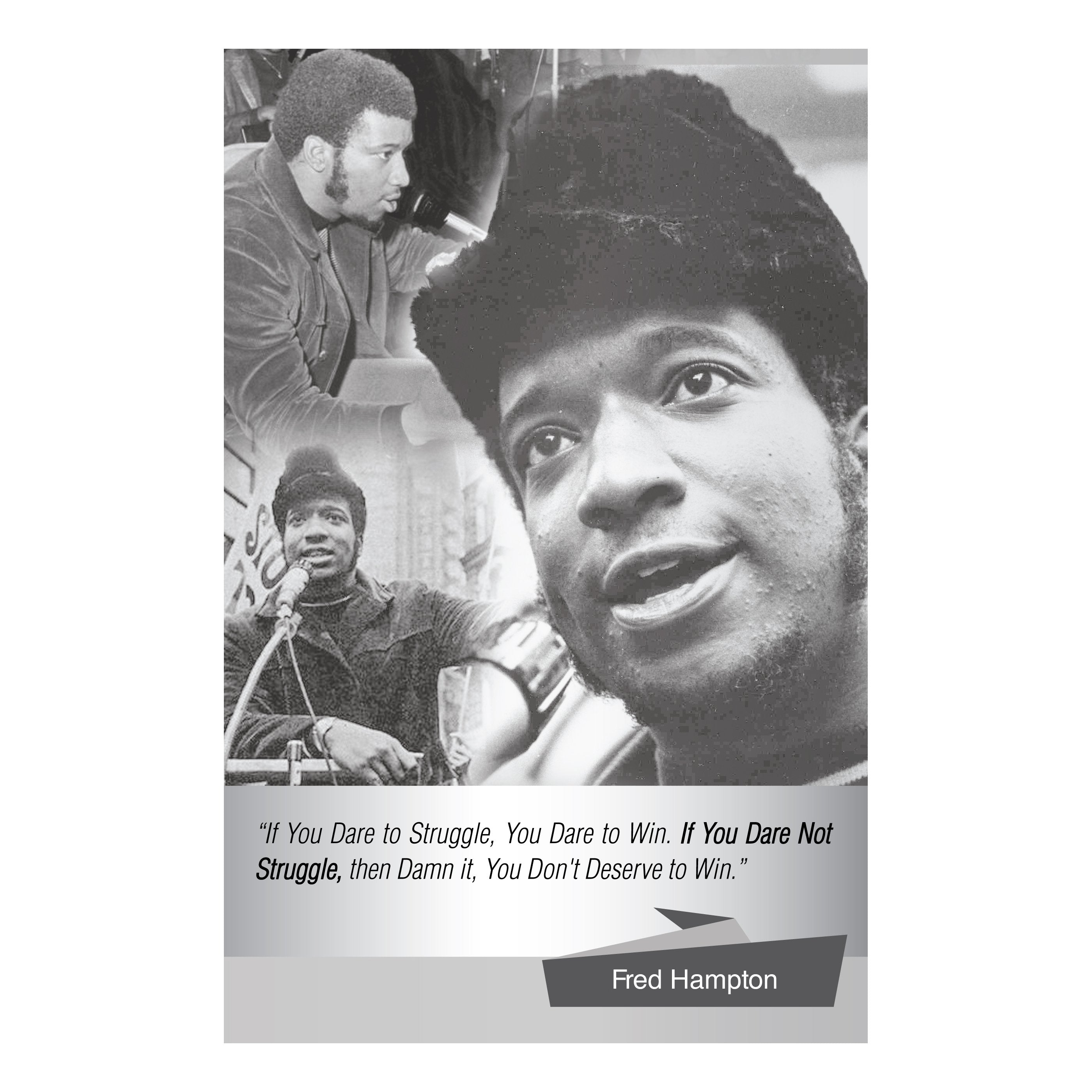 Fred Hampton: Dare to Struggle by Sankofa Designs