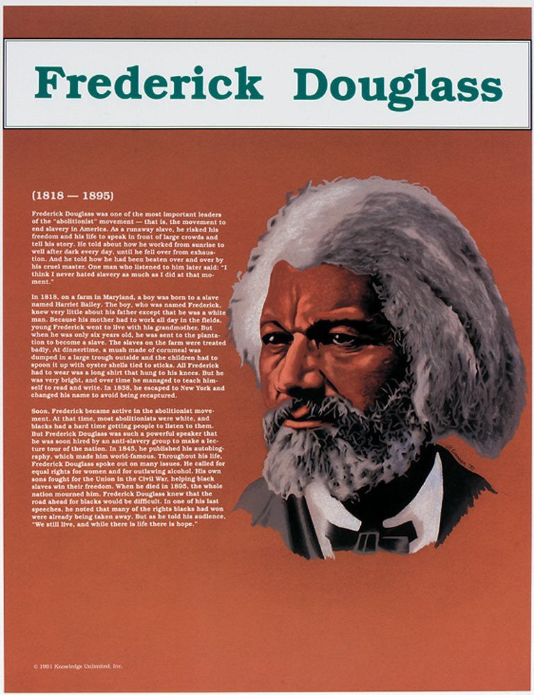 Great Black Americans: Frederick Douglass Poster by Knowledge Unlimited