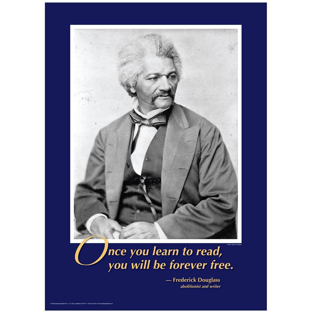 Forever Free: Frederick Douglass Poster by Knowledge Unlimited