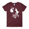Wanted for Wanting Freedom Women's Short Sleeve T-Shirt (Maroon)