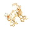 Sigma Gamma Rho Inspired French Poodle Rhinestone Brooch/Pin (Gold Tone - Back)