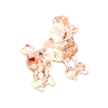 Sigma Gamma Rho Inspired French Poodle Rhinestone Brooch/Pin (Rose Gold Tone - Back)