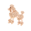 Sigma Gamma Rho Inspired French Poodle Rhinestone Brooch/Pin (Rose Gold Tone)