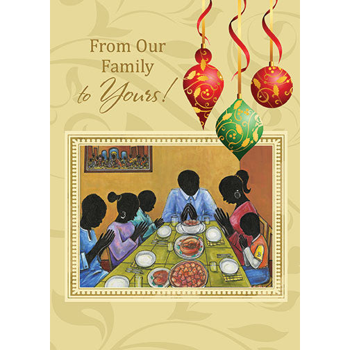 From Our Family to Yours: African American Christmas Card
