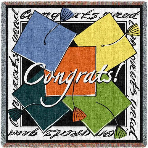 Congrats Grad Tapestry Throw