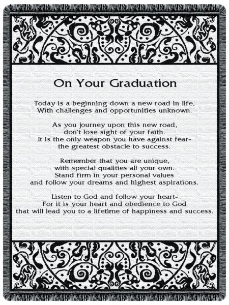 On Your Graduation Tapestry Throw