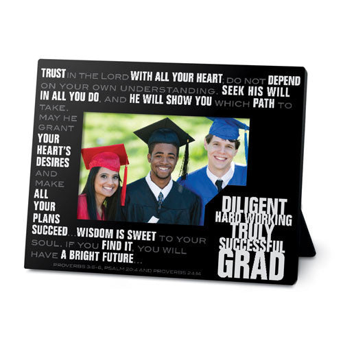 Stacked Words Graduation Photo Frame