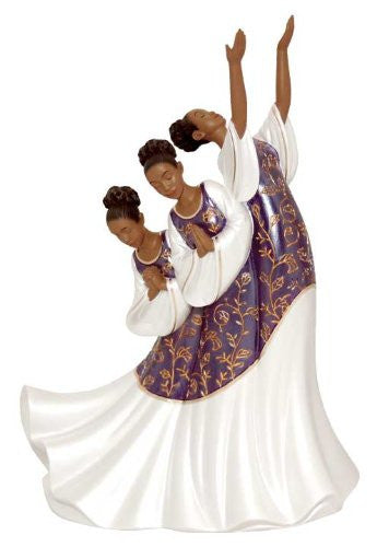 Giving Praise (Purple): Praise Dancer Figurine