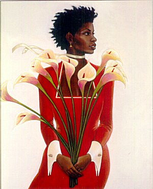 Woman In Red by Gilbert Young