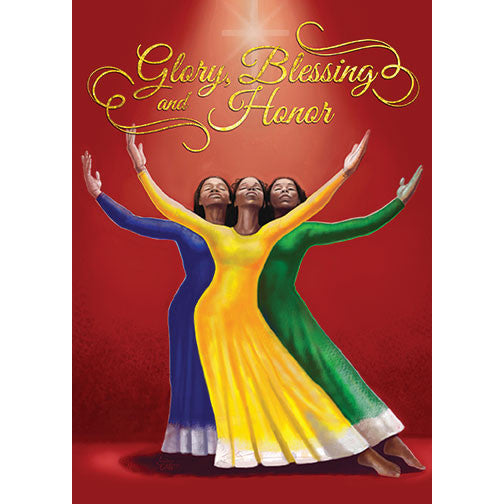 Glory, Blessing and Honor: African American Christmas Card