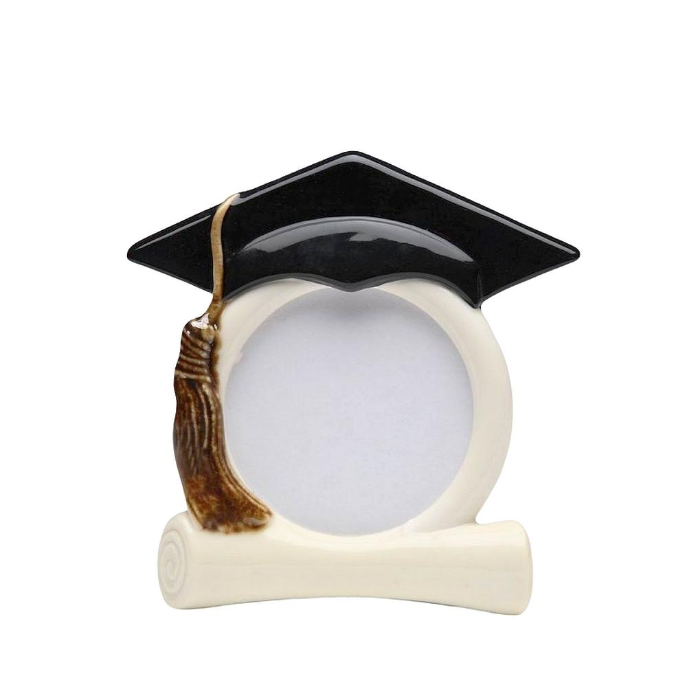 Graduation Cap Ceramic Photo Frame by Cosmos Gifts