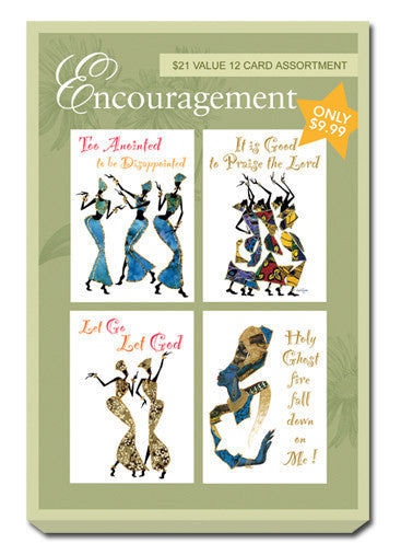 Green Box Set of Encouragement Greeting Cards