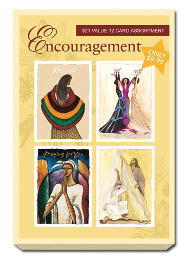 Yellow Box Set of Encouragement Greeting Cards