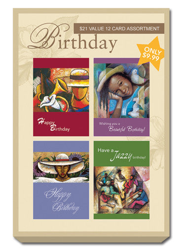 Yellow Box Set of Birthday Greeting Cards
