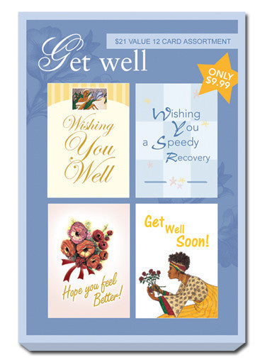 Blue Box Set of Get Well Greeting Cards
