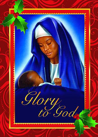 Mary and Child (Glory To God): African American Christmas Card