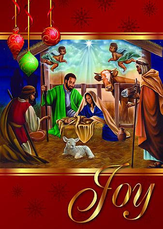 Nativity (Joy): African American Christmas Card