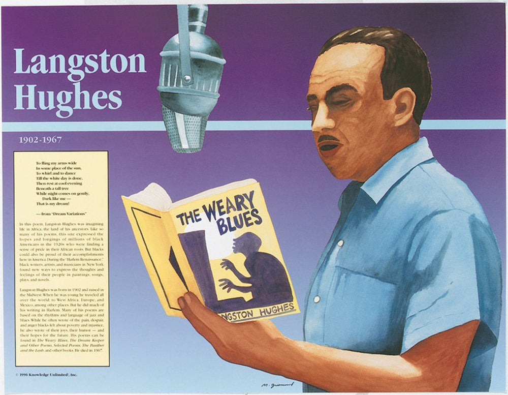 Great Black Americans: Langston Hughes Poster by Knowledge Unlimited