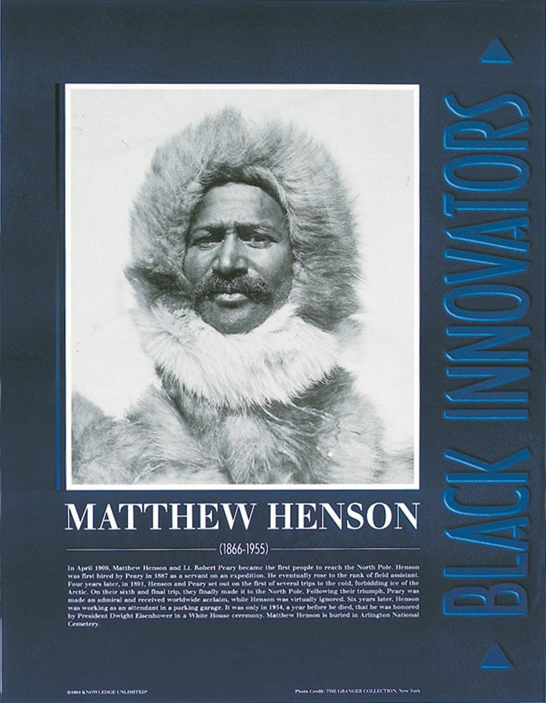 Black Innovators: Matthew Henson Poster by Knowledge Unlimited