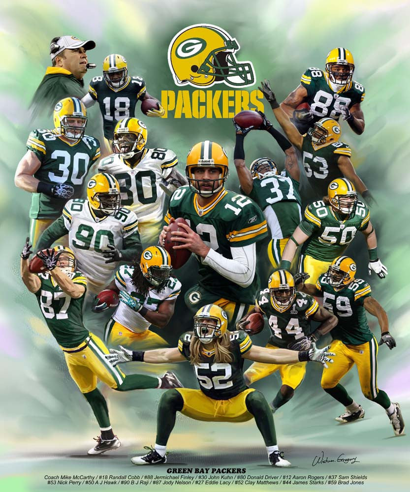 Green Bay Packers by Wishum Gregory