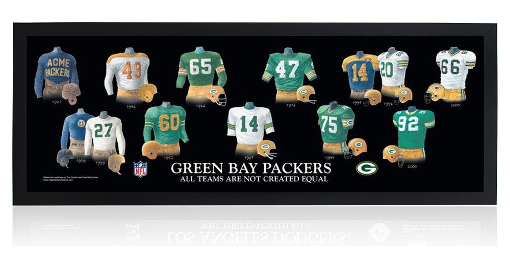 Green Bay Packers: All Teams are Not Created Equal by Nola McConnan and Tino Paolini (Black Frame)
